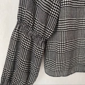 The Limited Plaid/Houndstooth Blouse